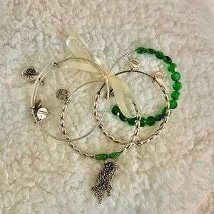Alex And Ani- set of 4 Lucky bracelets